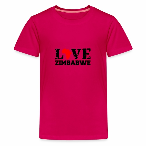 love zimbabwe - Teenage Premium T-Shirt