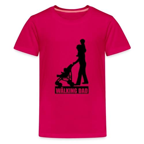 Walking Dad 2 huckepack - Teenager Premium T-Shirt
