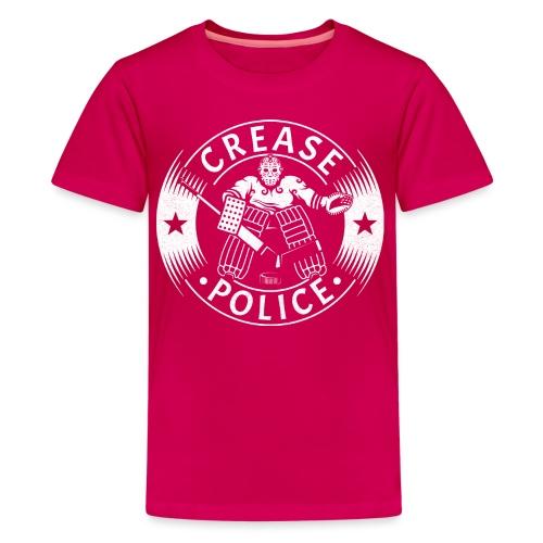 Crease Police Hockey Goalie - Teenage Premium T-Shirt
