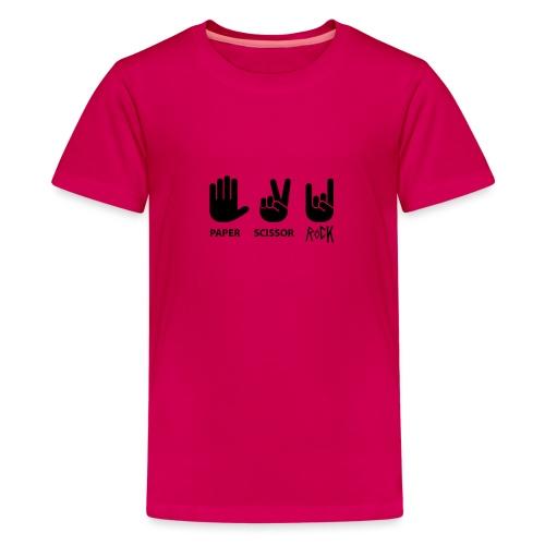 ciseaux de roche papier - T-shirt Premium Ado