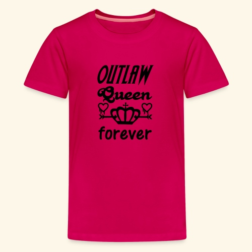 OutlawQueen Once Upon A Time Shirts - Teenage Premium T-Shirt