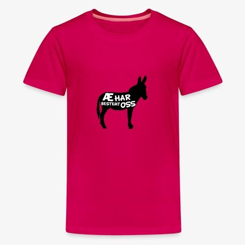 Esel-politikk - Premium T-skjorte for tenåringer