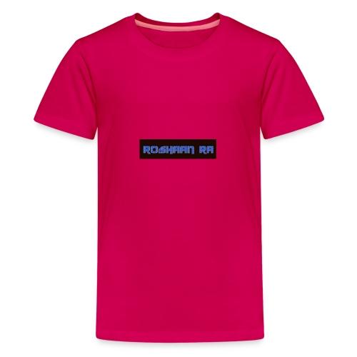 Blue RoshaanRa Logo Kids Merch - Teenage Premium T-Shirt