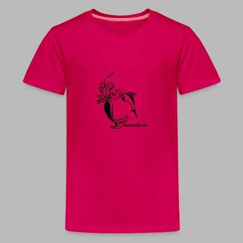Mermaids Seejungfrau und Delphin - Teenager Premium T-Shirt