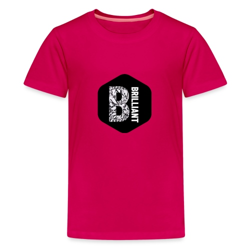 B brilliant black - Teenager Premium T-shirt