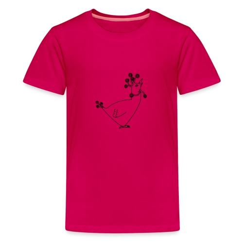 Cosmic Chicken - Teenage Premium T-Shirt
