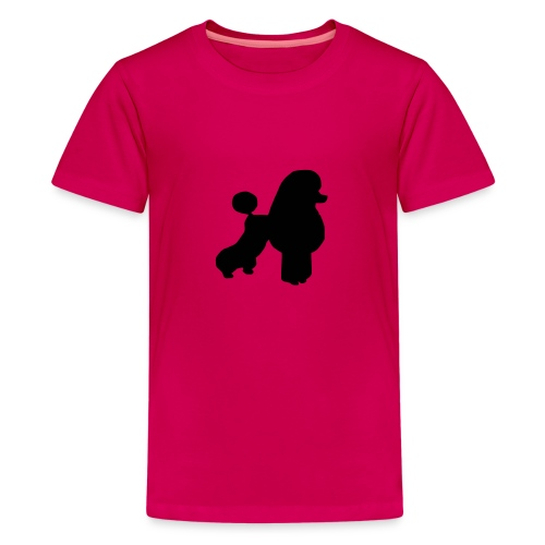 Tygkasse med pudelmotiv - Premium-T-shirt tonåring
