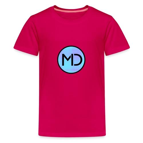 MD Blue Fibre Trans - Teenage Premium T-Shirt