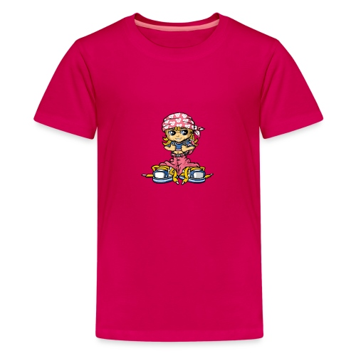 hip-hop girl and bandana - Teenager Premium T-Shirt