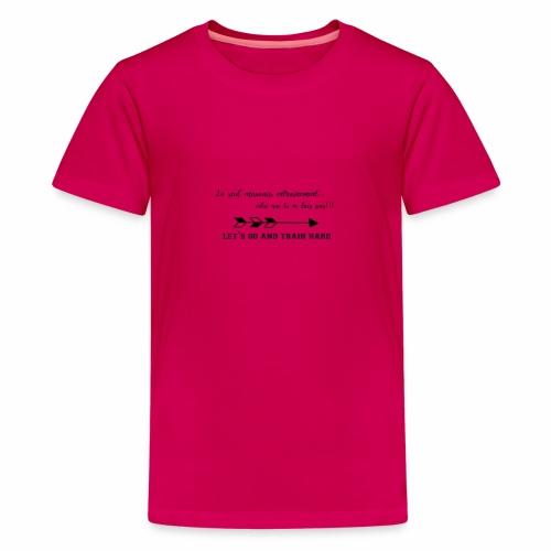 train hard - T-shirt Premium Ado
