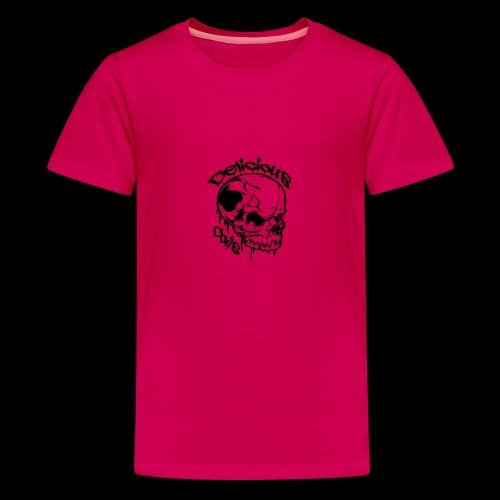 Logo Mode Schwarz - Teenager Premium T-Shirt