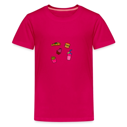 Fast Food Design - Teenager Premium T-Shirt