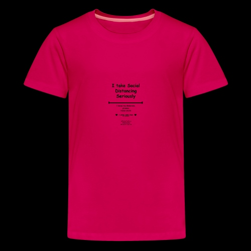 Social distancing black - Teenager Premium T-shirt