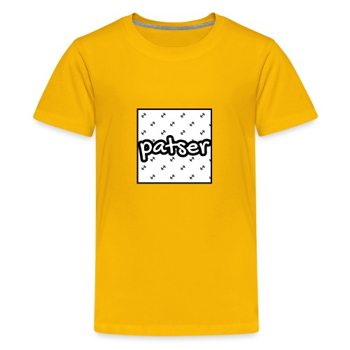 Patser - Basic Print White - Teenager Premium T-shirt
