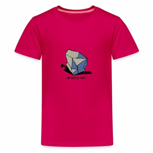 I LOVE ROCK ART No 1 colour - Teenager Premium T-shirt