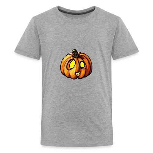 Pumpkin Halloween watercolor scribblesirii - Teenager premium T-shirt