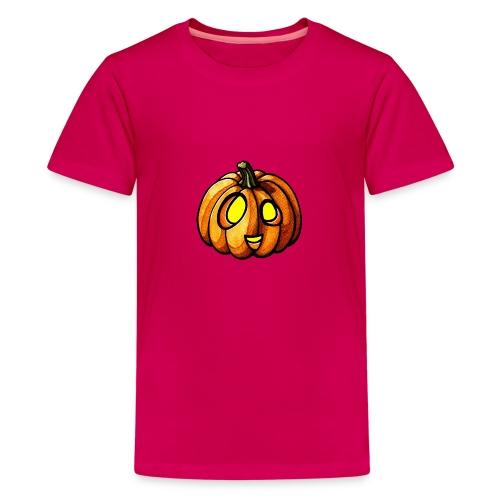 Pumpkin Halloween watercolor scribblesirii - Koszulka młodzieżowa Premium