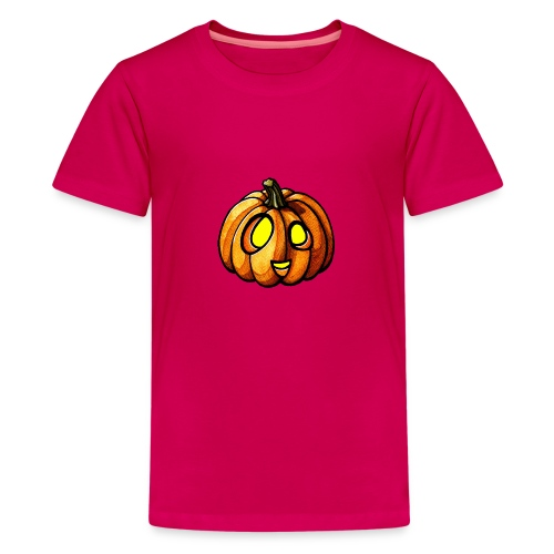 Pumpkin Halloween watercolor scribblesirii - Teenage Premium T-Shirt