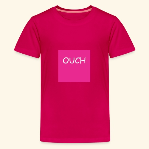 Ouch! Chad vs Virgin Meme Shirts - Teenage Premium T-Shirt