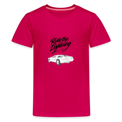 Delorean – Ride The Lightning - Teenager Premium T-Shirt