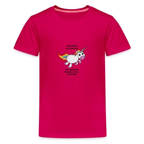 Unicorns are awesome - Teenage Premium T-Shirt