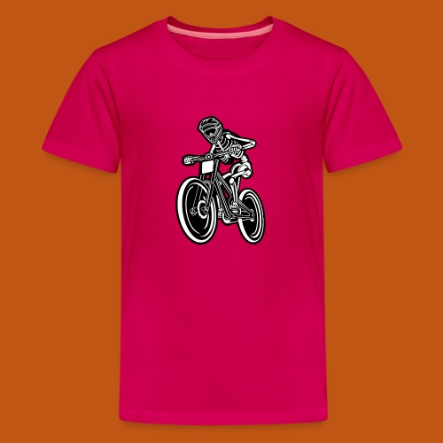 BMX / Mountain Biker 04_schwarz weiß - Teenager Premium T-Shirt