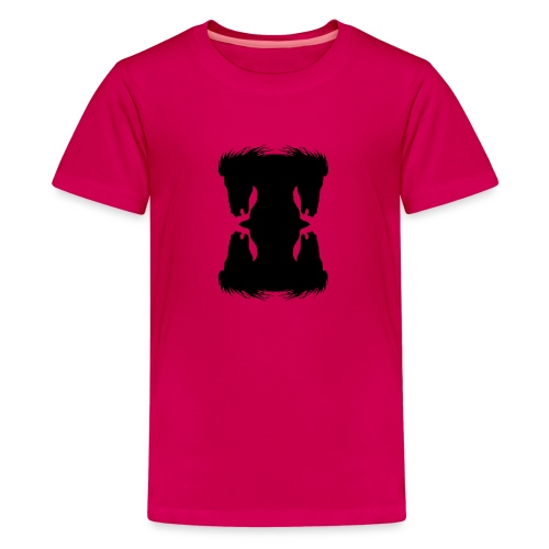 Cheval cabré en ombres chinoise - T-shirt Premium Ado