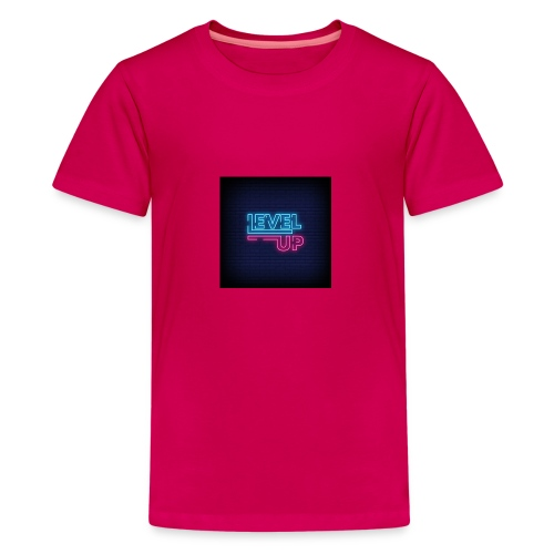 level up neon signboard 118419 1291 - Teenager premium T-shirt