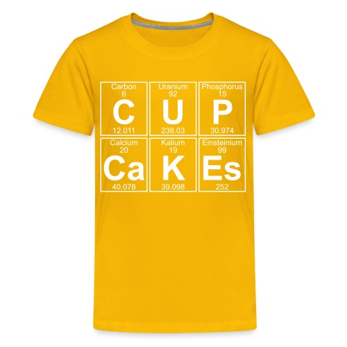 C-U-P-Ca-K-Es (cupcakes) - Full - Teenage Premium T-Shirt