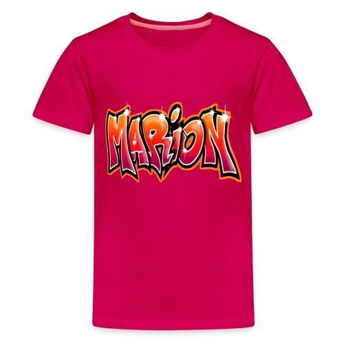 Graffiti Tag prenom name MARION - T-shirt Premium Ado