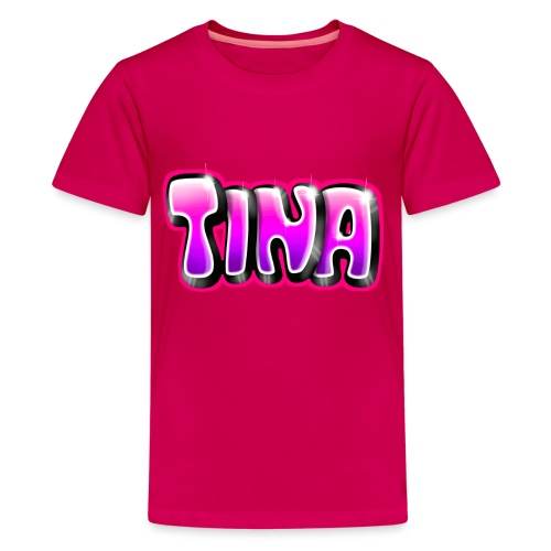 GRAFFITI TAG TINA PRINTABLE ON EVERYTHING PINK - T-shirt Premium Ado