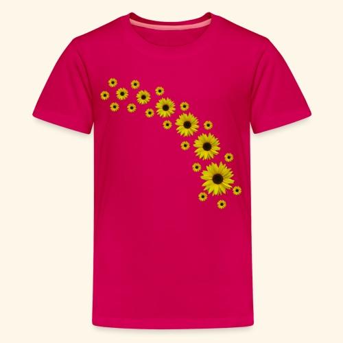 Sonnenblumen, Sonnenblume, Blumen - Teenager Premium T-Shirt