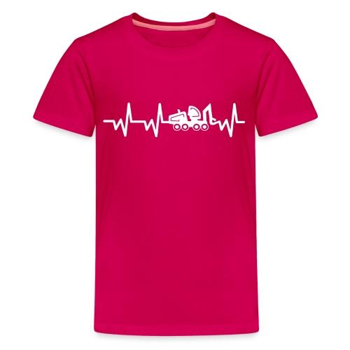 Forst | Herzschlag weiß - Teenager Premium T-Shirt