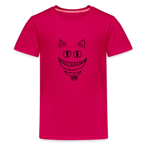 Gato sonriente - Camiseta premium adolescente