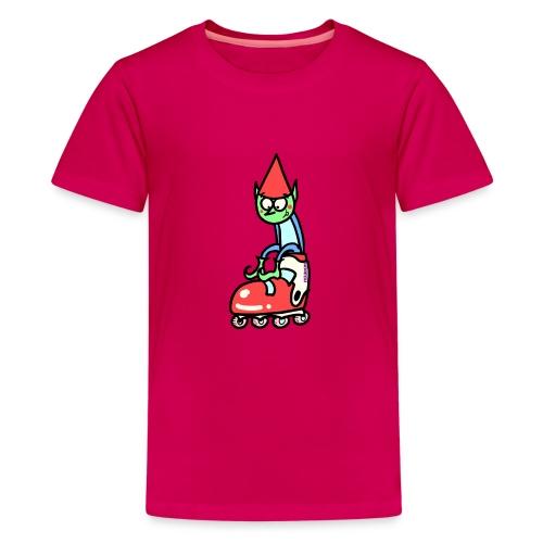 El gnomo en el patín - Camiseta premium adolescente