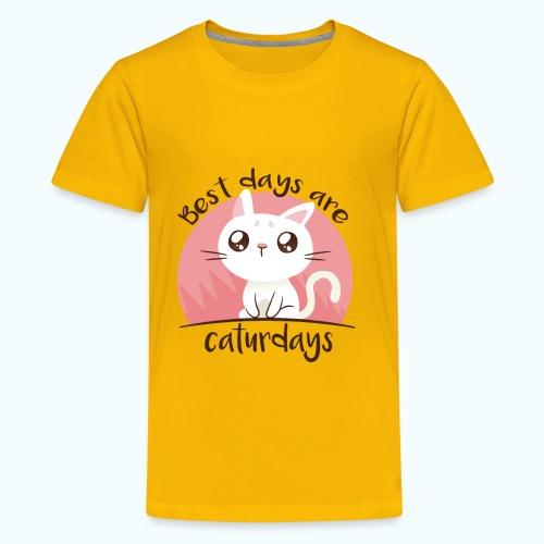 Saturdays - NO - Caturdays - Teenage Premium T-Shirt
