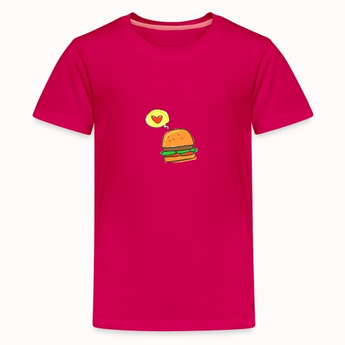 Love Burger - Teenager Premium T-Shirt