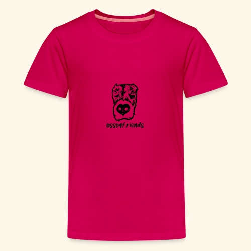 Logo NERO TRASPARENTE creative - Maglietta Premium per ragazzi