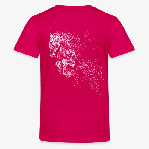 Vorschau: jumping horse white - Teenager Premium T-Shirt
