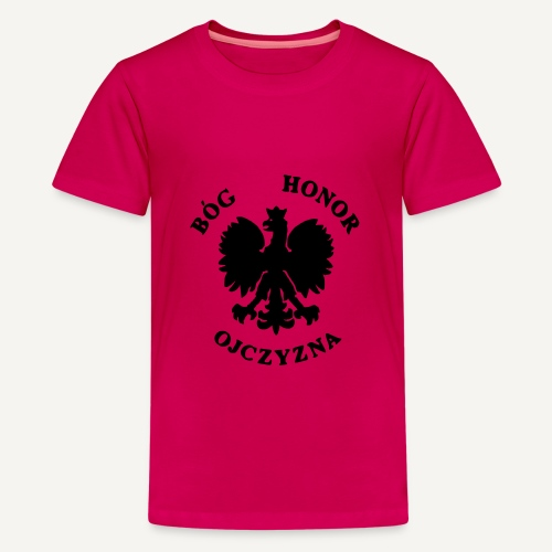 Bóg, Honor, Ojczyzna - Koszulka młodzieżowa Premium