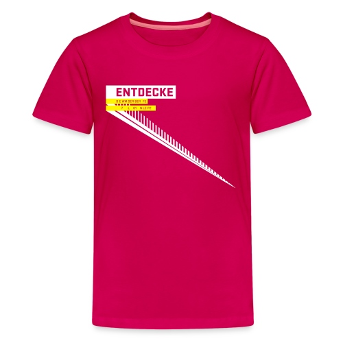 typobalken entdecke wei - Teenage Premium T-Shirt