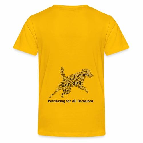 Retrieving for All Occasions wordcloud svart - Premium-T-shirt tonåring