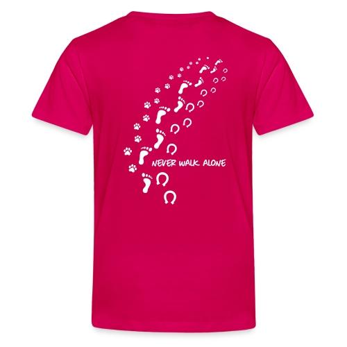 Vorschau: never walk alone hund pferd - Teenager Premium T-Shirt