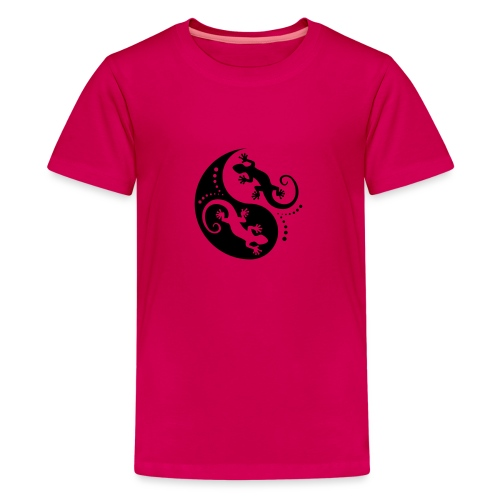 YIN & YANG Geckos black - Teenager Premium T-Shirt