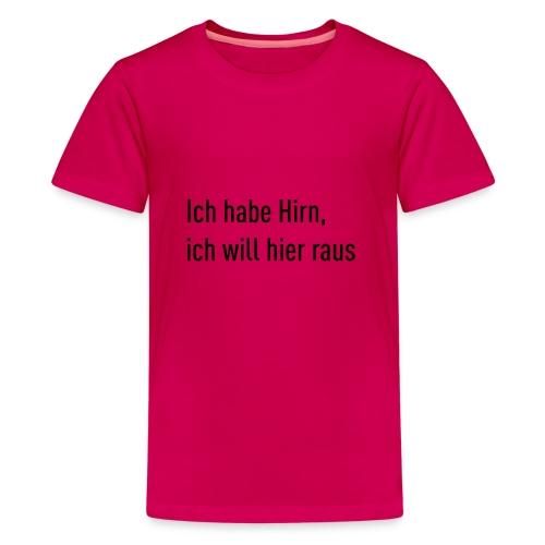 Flachsinn Tasse - Teenager Premium T-Shirt