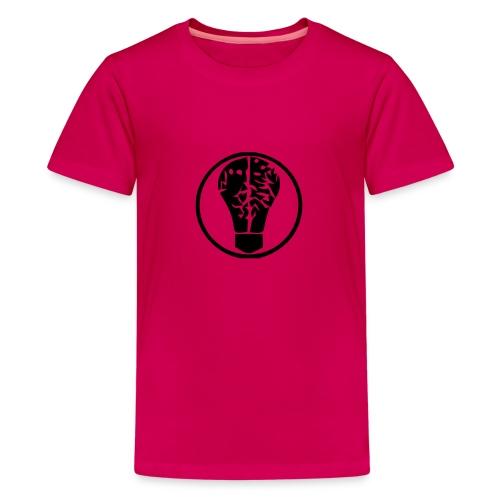 birneorgalogominischwarz - Teenager Premium T-Shirt