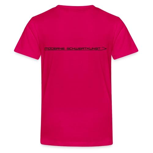 Schrift_mit_schwert_Schwa - Teenager Premium T-Shirt
