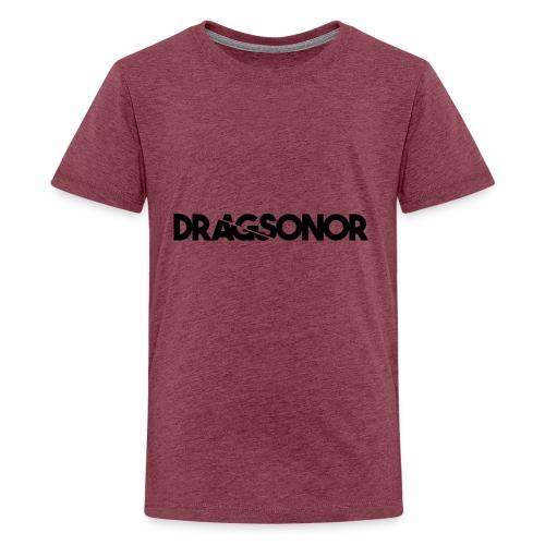 DRAGSONOR black - Teenage Premium T-Shirt