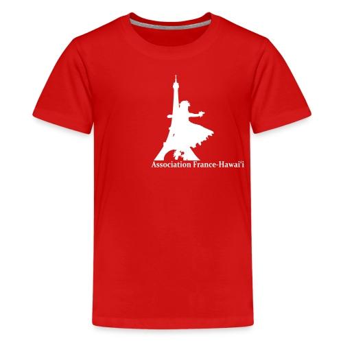 logo asso AFH 170312, blanc - T-shirt Premium Ado