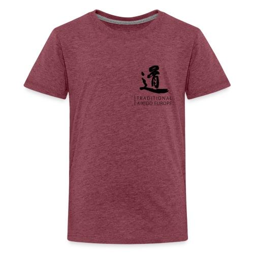 TAE logo black TRANSPARENT - Teenager premium T-shirt